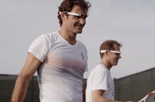 Google Glass Roger Federer Video