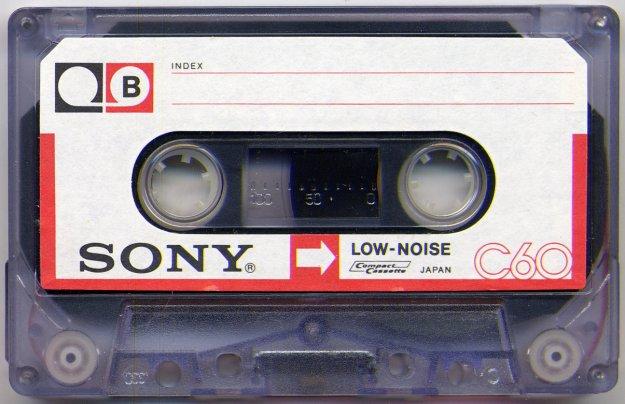 Sony Cassette Tape Data Storage