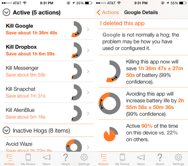 iPhone Battery Life Comparison