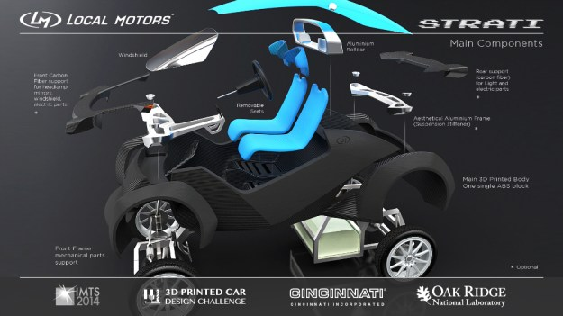 Local Motors Strati 3D Printed Car