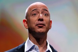 Amazon CEO Jeff Bezos speaks at a news conference during the launch of Amazon's new tablets in New York