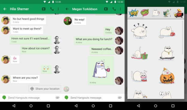 how to delete an email on hangouts app