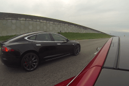 Tesla Drag Racing Video