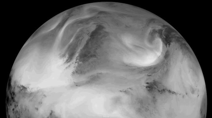 NASA Satellite Video Earth Infrared Light