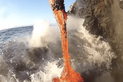 Video Molten Lava Flow