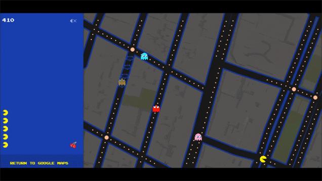 Google Maps Pac-Man Trick
