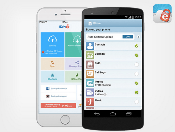 A Lifetime Of Unlimited Mobile Backup With Idrive For Only
