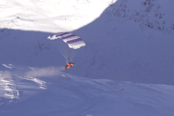 Finnish Snowmobile Parachute Video