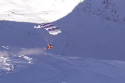 Finnish Snowmobile Parachute Video