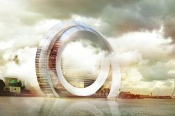 Dutch Windwheel Building Rotterdam