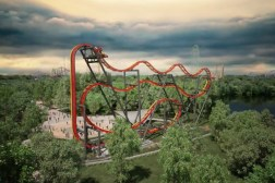 Six Flags Total Mayhem Roller Coaster Video