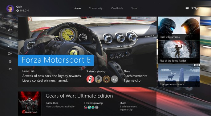 Xbox One November Update Preview