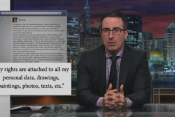 John Oliver Facebook Privacy Copyright