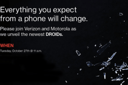 Motorola Verizon Droid Event October 27th