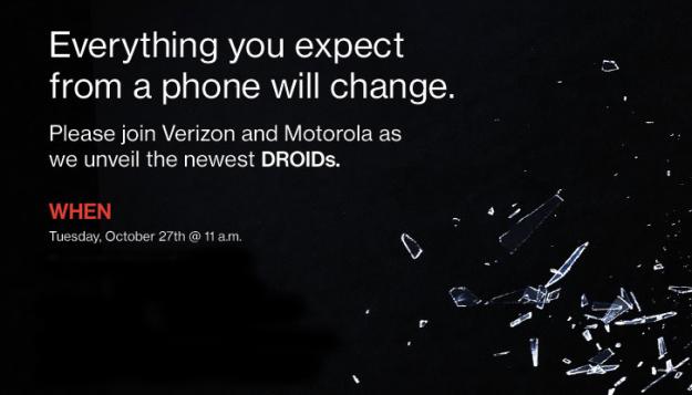 Motorola, Verizon to host Droid event on October 27th