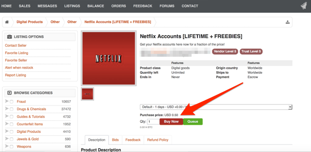 netflix-dark-web-lifetime-access-online-sales
