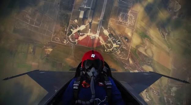 F-16 15,000 Feet Climb Video