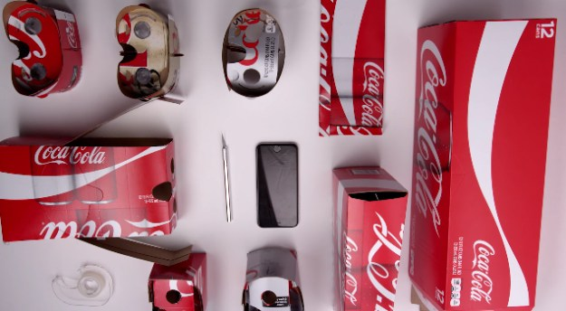 Coca-Cola Virtual Reality Cardboard iPhone