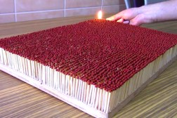 6000 Matches Go Up In Flames