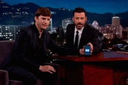 Ashton Kutcher Jimmy Kimmel