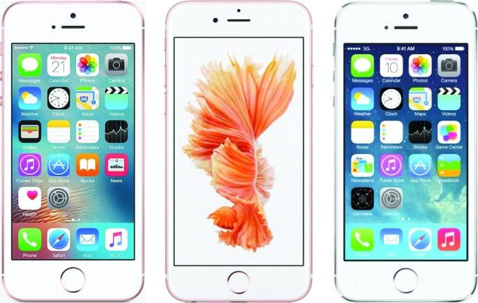iPhone SE vs iPhone 6s vs iPhone 5s