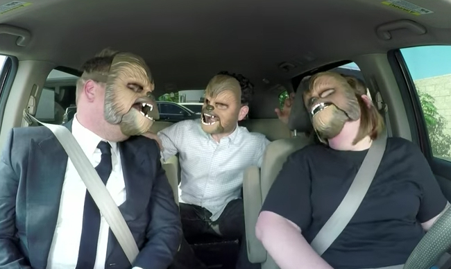 Chewbacca Mom Video Abrams Corden