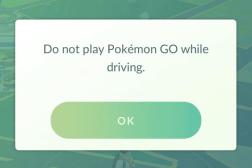 Pokemon Go Traffic Violations