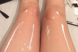 Shiny Legs Vs. White Paint