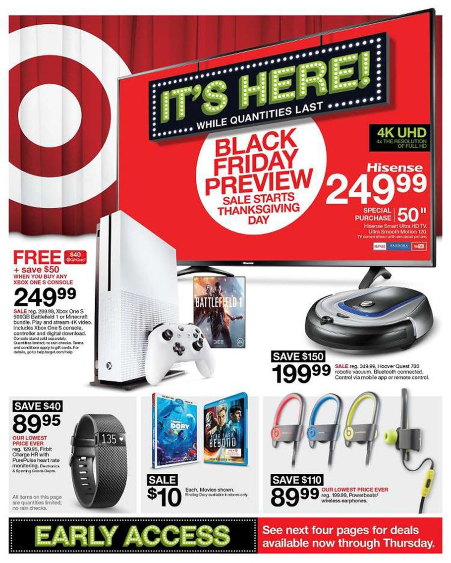 Target Black Friday 2016 Ad Leaks Huge Iphone 7 Xbox One S Tv And Other Tech Deals Bgr