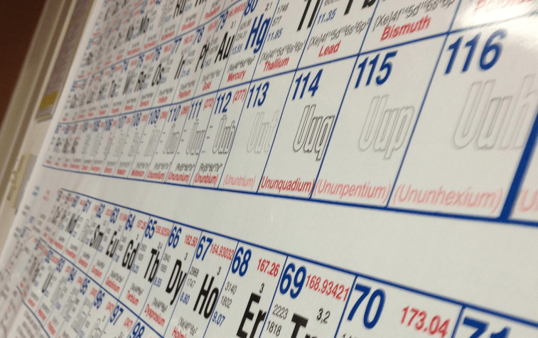 The periodic table officially names its four newest members