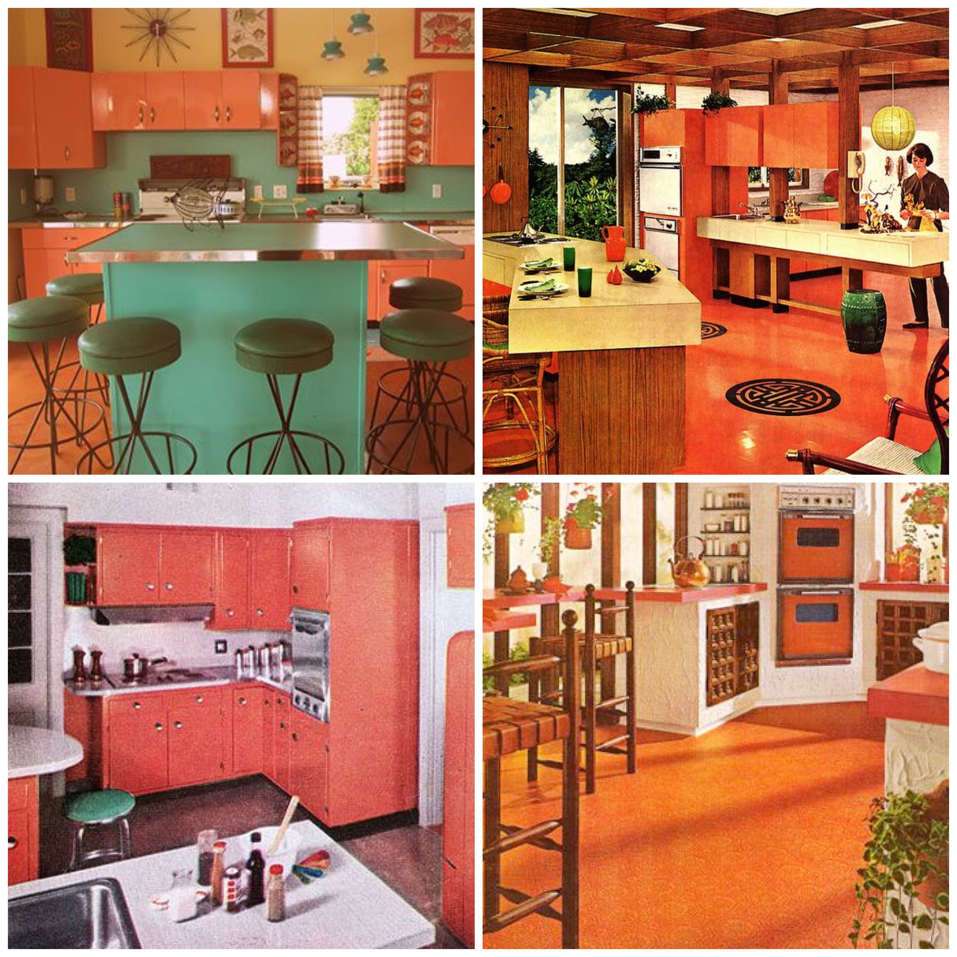Mustard Color Paint For Kitchen Taste The Rainbow Vintage Kitchens Of Every Shade