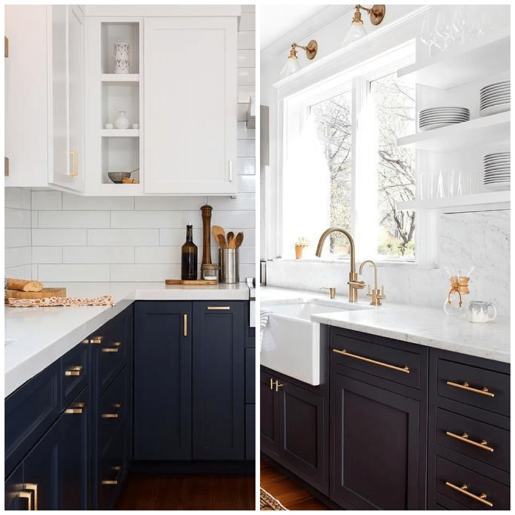 Grey Kitchen Cabinets What Colour Walls 4 Ways To Use Navy Blue In Your Kitchen