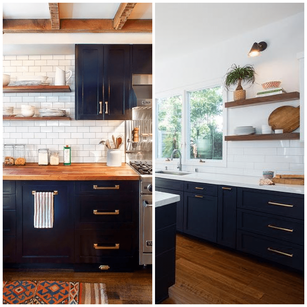 Paint Kitchen Cabinet Hardware Silver 4 Ways To Use Navy Blue In Your Kitchen
