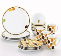 Rachael Ray 16 Piece Little Hoot Dinnerware Set, Service for 4