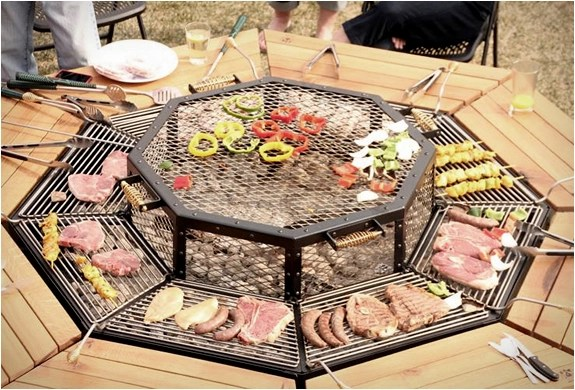Barbecue Op Hout Jag Grill Bbq Table