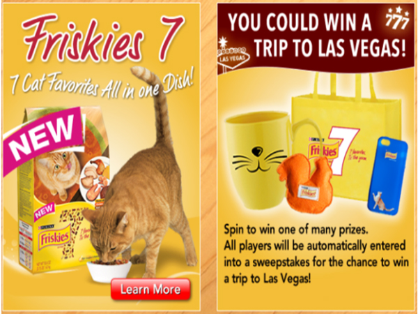 Friskies Cat Food Instant Win Game - BlissXO