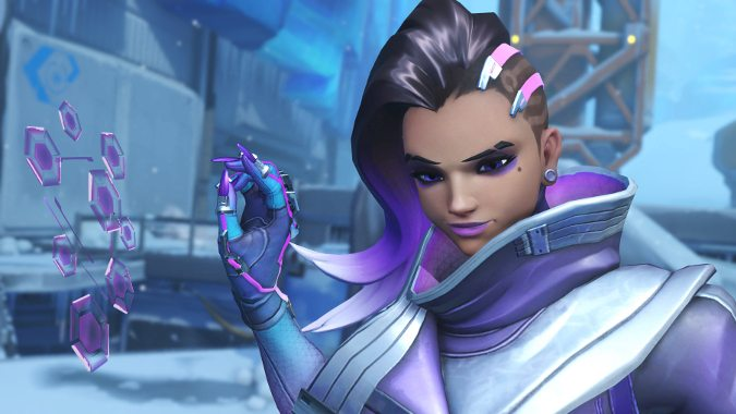 Girls Wallpaper Without Bra Sombra Skins Hot Off The Ptr Blizzard Watch