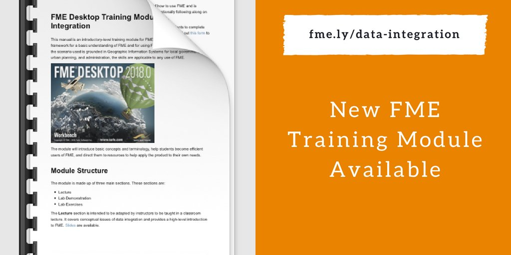 FME for Higher Education New Data Integration Training Module