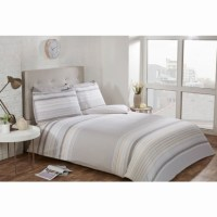 Striped Double Duvet Twin Pack - Natural | Bedding - B&M