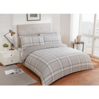 Check King Duvet Twin Pack - Natural | Bedding - B&M