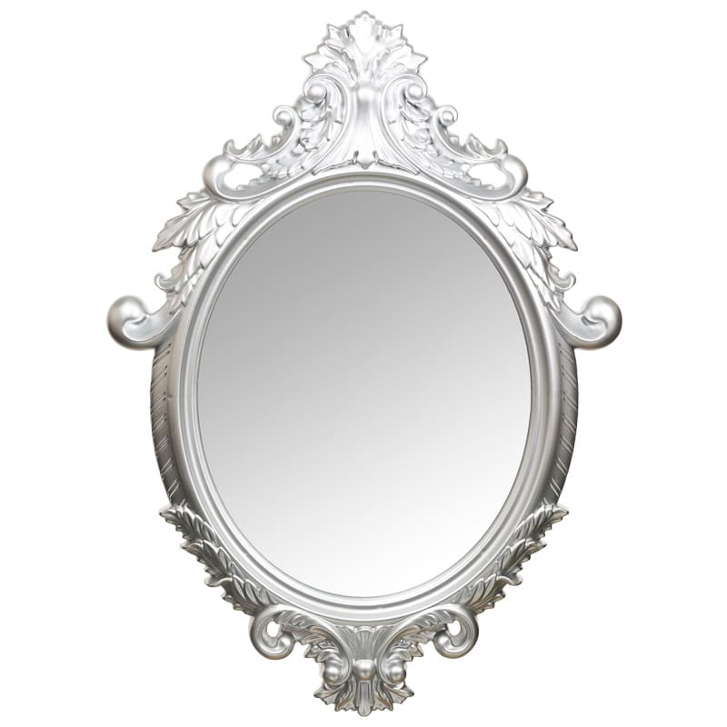 Oval Mirror Silver Frame Ornate Oval Mirror Home Decor Homewares Gifts