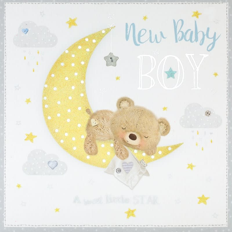 New Baby Boy - New Baby Card Cards - BM