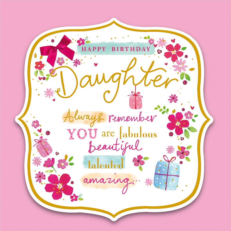 Sympathy Wallpaper Quotes Happy Birthday Daughter Birthday Card Greeting Cards B Amp M