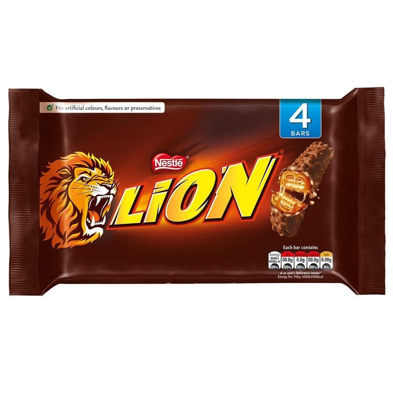 Animal Print Wallpaper Uk Nestle Lion Bar 4pk Chocolate Bars Amp Confectionery