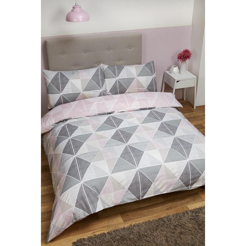 Geometric Double Duvet Set Bedding Duvet Sets Bm