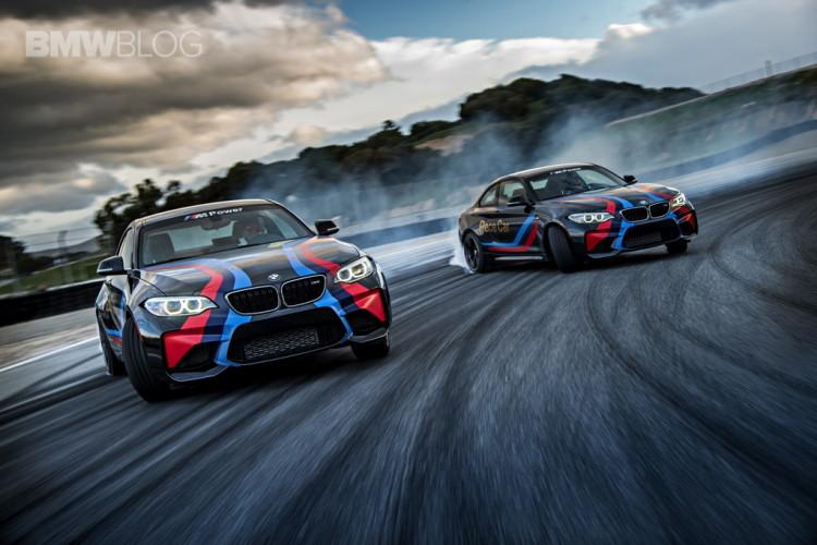 Fastest Car In The World Wallpaper Bmw M2 Pace Cars Drifting At Laguna Seca