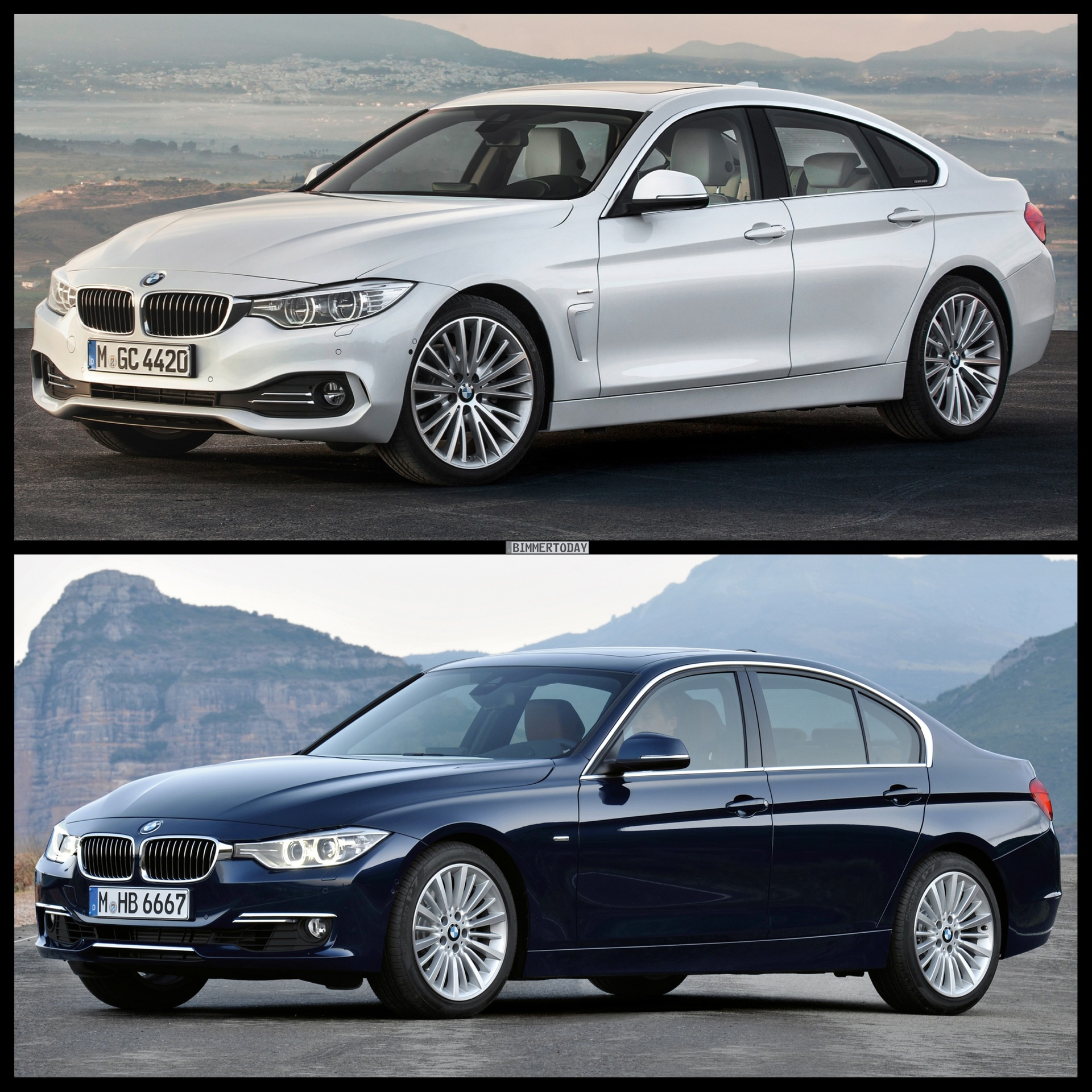 Photo comparison bmw 4 series gran coupe vs audi s5 sportback bild vergleich bmw 4er gran coupe gc f36 3er f30 limousine luxury line 01 750x750