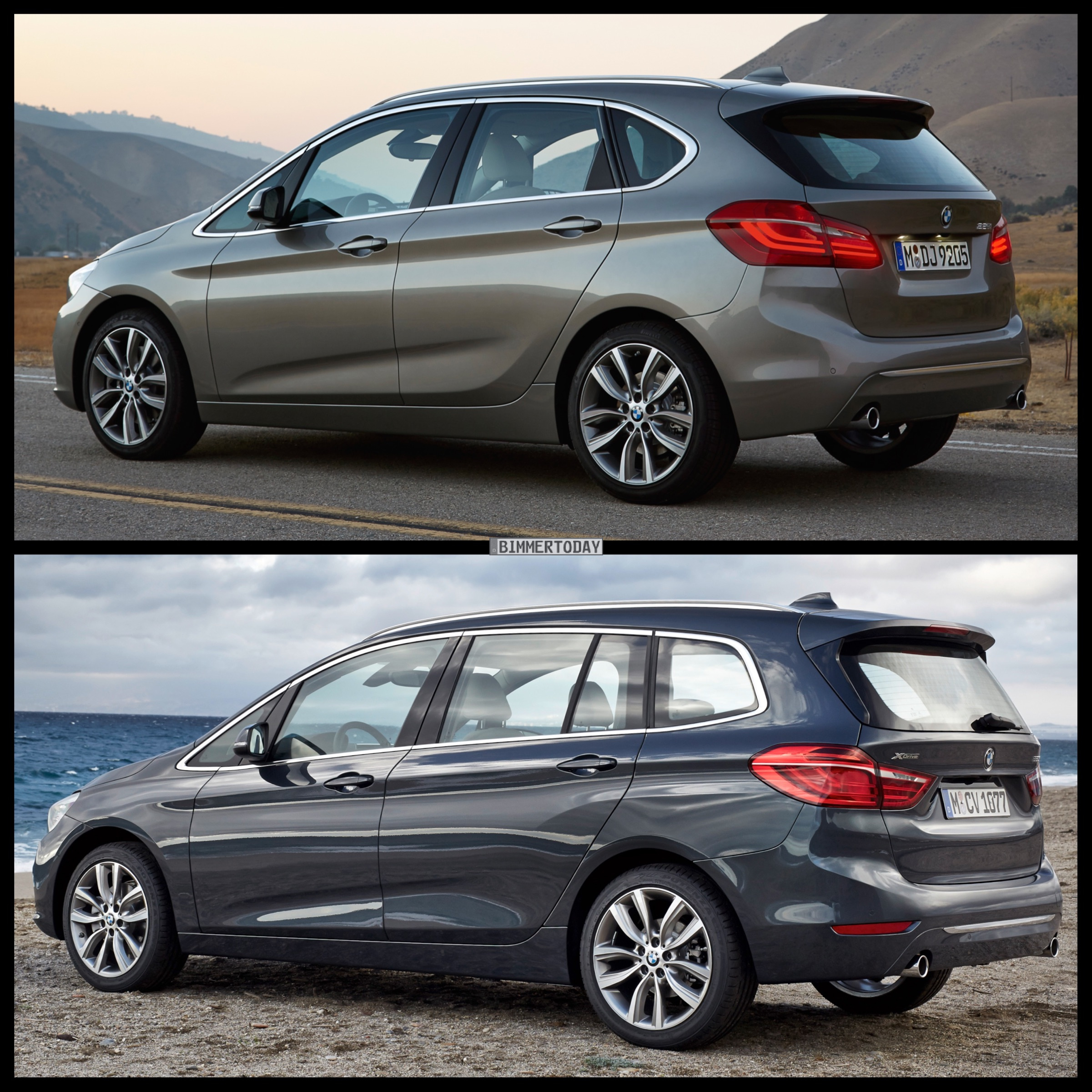 Bmw 2 Series Length Bmw 2 Series Gran Tourer Vs Bmw 2 Series Active Tourer