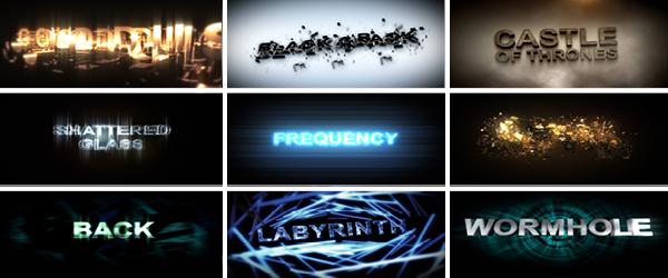 Boris FX Blockbuster Titles 3D, Volume I 20 Cinematic Adobe After