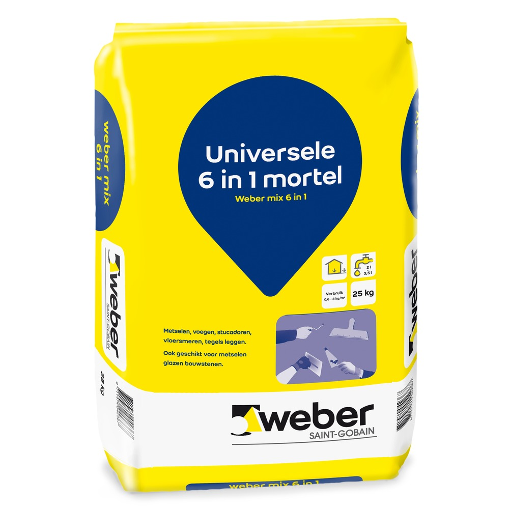 Kant En Klaar Cement Dekvloer Weber Mix 6 In 1 Is Kant En Klare Mortel